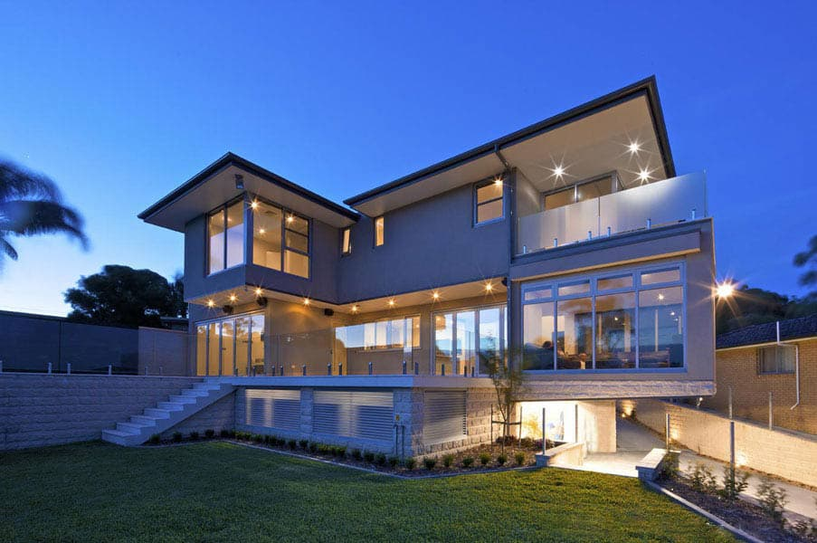 newly installed aluminium sliding doors in a home in Sydney
