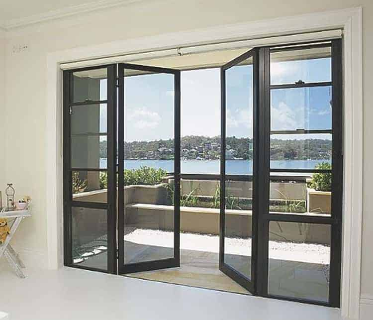 aluminium and glass french doors