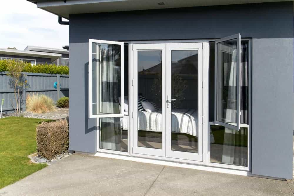 aluminium french doors installed in a sydney home