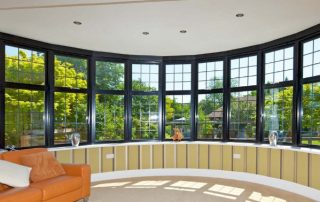 black framed aluminium windows