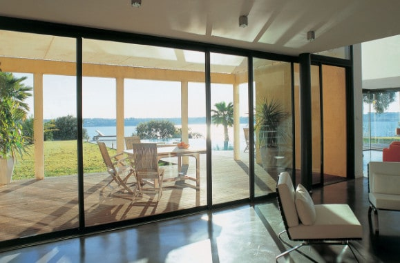 Newly Installed Aluminium Sliding Doors in Granville
