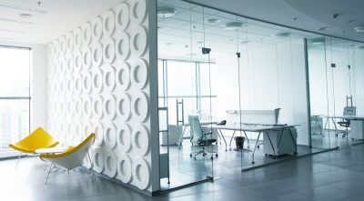 contemporary glass office partitions