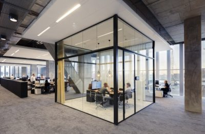 beautiful glass partitioned office room in Sydney