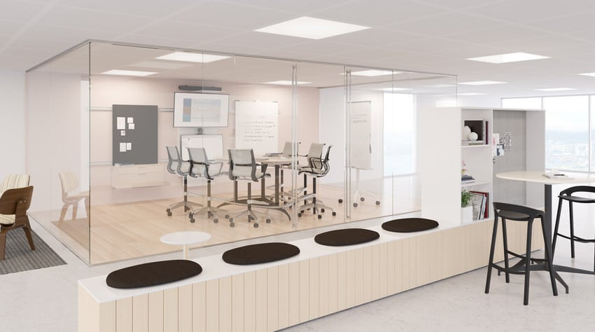 glass partitions for home office