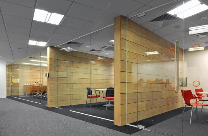 recycled glass office partitions