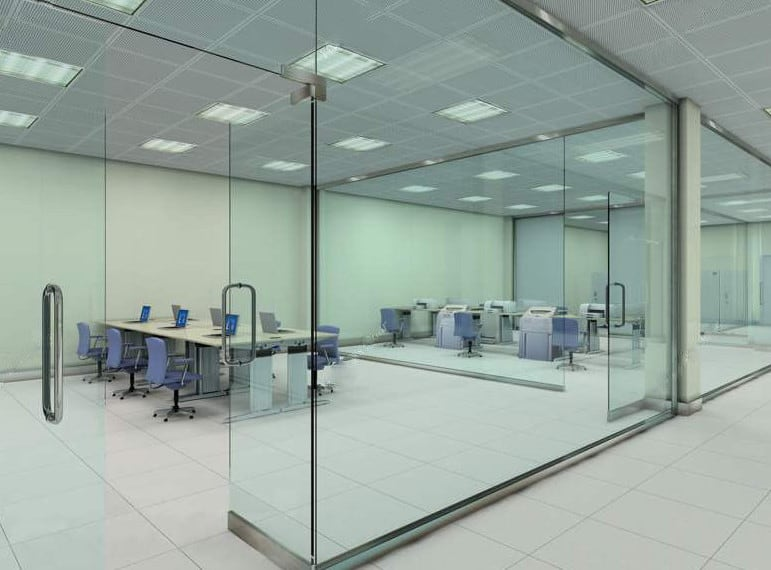 soundproof glass office partitions
