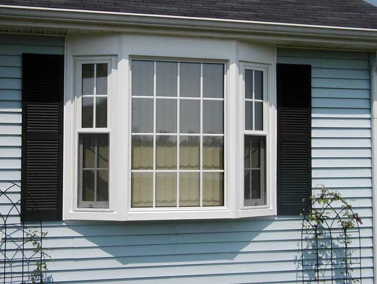bow window with double hung windows sydney