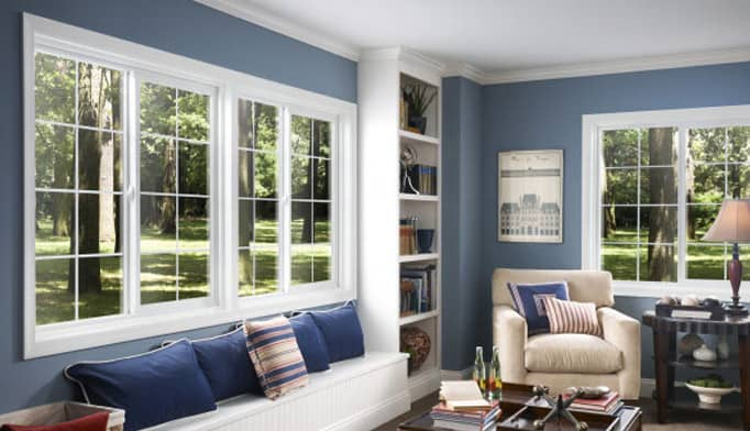 double hung low e replacement windows
