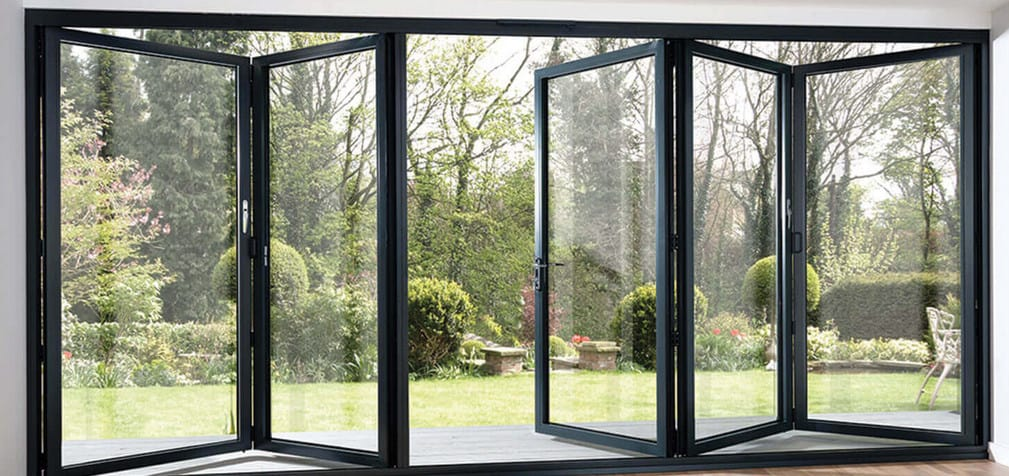 bifold doors black colour