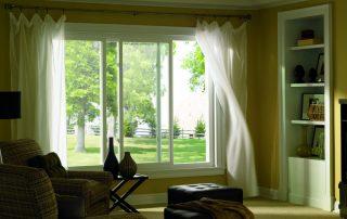 white aluminium frame sliding windows