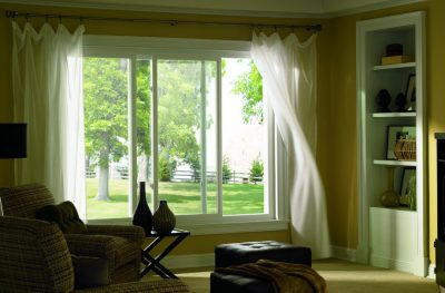 white aluminium frame sliding windows