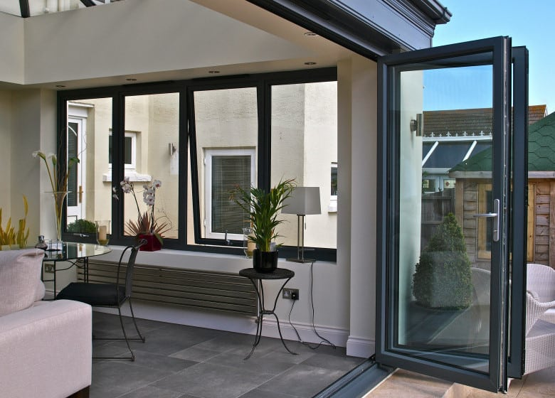 picture of aluminium bifolding door