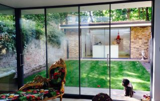 sliding patio door with aluminium frame