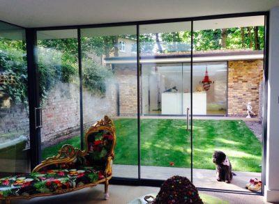 sliding patio door with aluminium frame