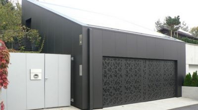 aluminium composite panel garage door