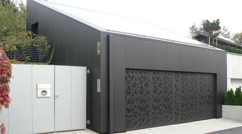 aluminium composite panel garage door