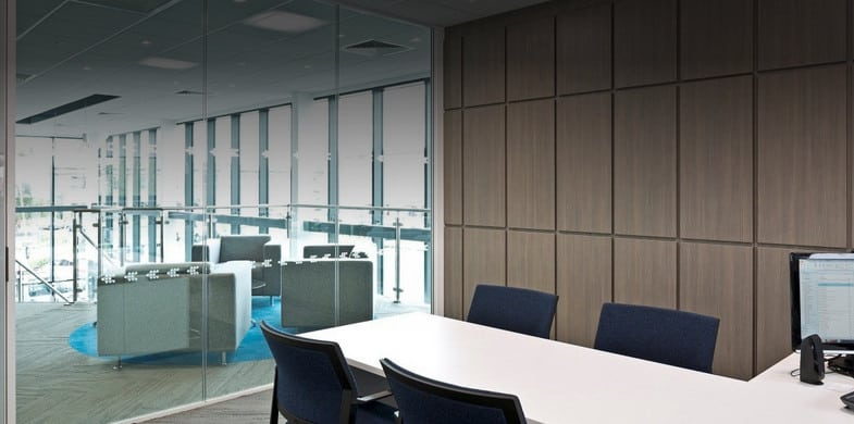 double glazed glass partitioning system