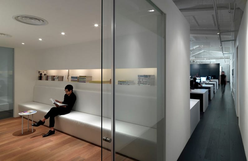 glass dividing walls in office