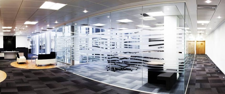 glass offices in the city of Sydney Australia