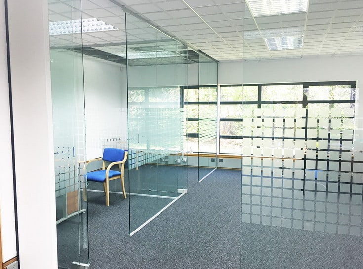 glass partitioning an office space in World Square Sydney CBD