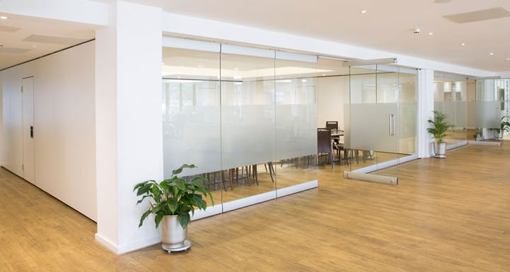 glass partitioning in North Sydney office