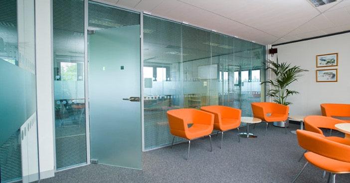 glazed partition walls for modern office design