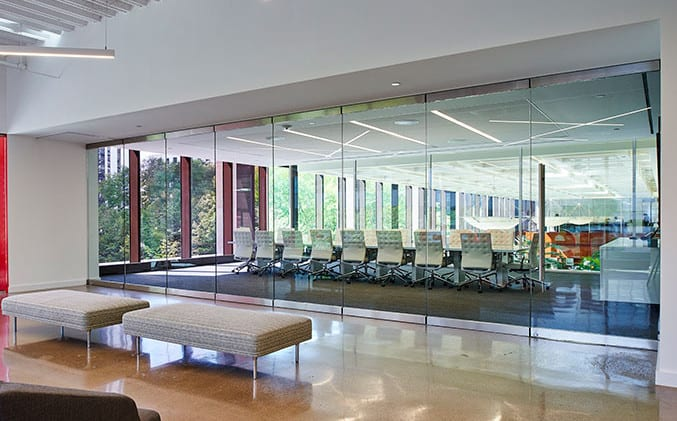 movable glass office partitions