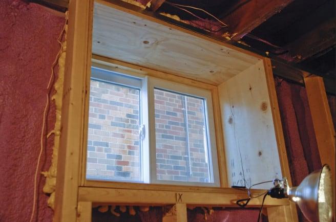 framing walls around basement window