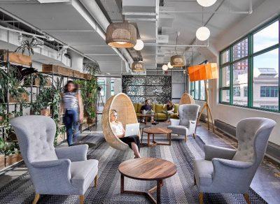 office design hanging basket chair
