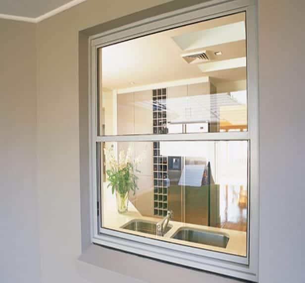 aluminium double hung windows installed in an apartment unit in Bondi Sydney