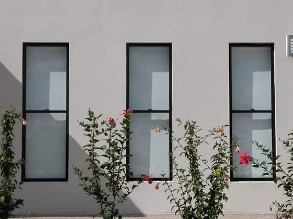 aluminium double hung windows