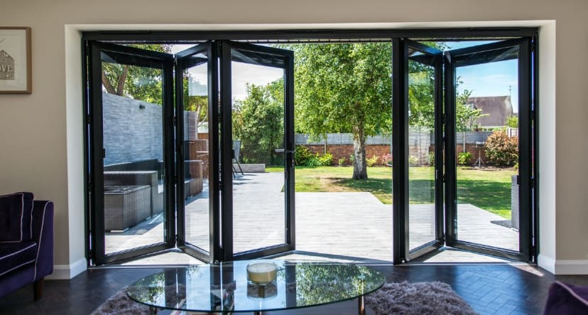 beautiful bifold doors installed for patio