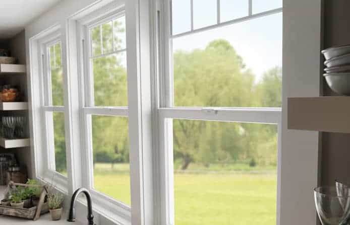 beautiful double hung windows in a home