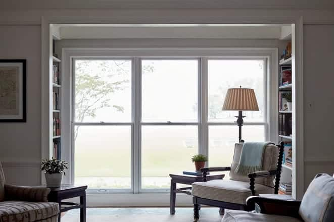 floor to ceiling double hung windows
