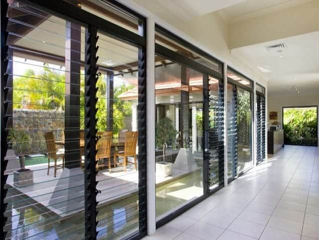 outdoor aluminium and glass louvre ideas