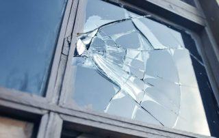 emergency glass window repair in a sydney home