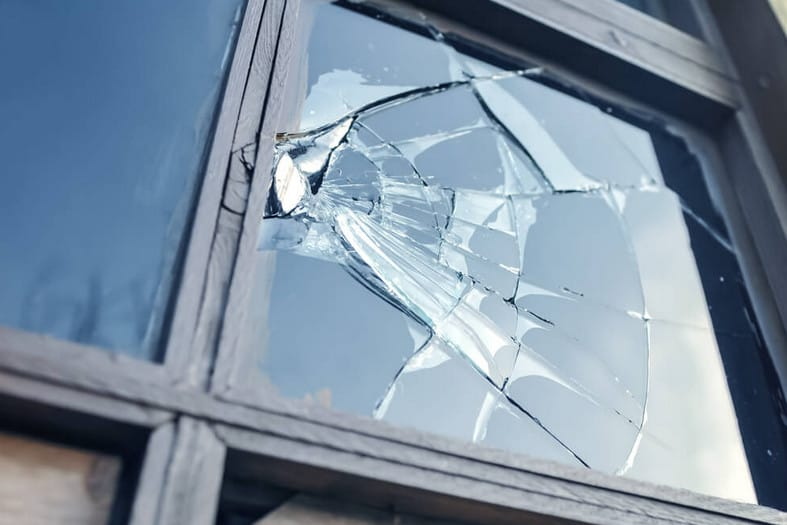 emergency glass window repair in a sydney home